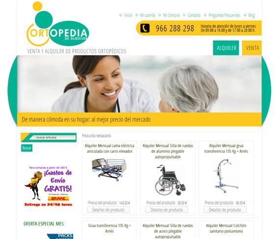 Ortopedia de Alquiler - nuteco - diseño y paginas web albacete