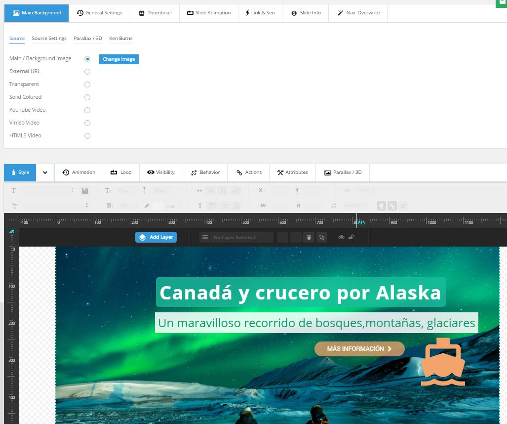 Slider Revolution | Slides para wordpress y tu web