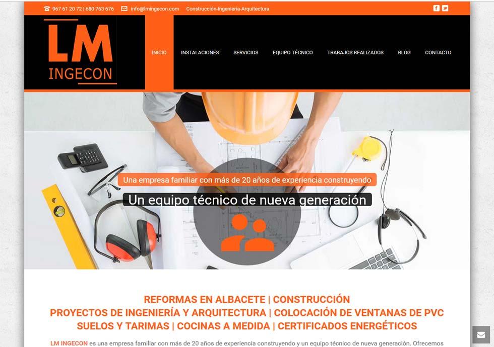 pagina web de LM INGECON por nuteco
