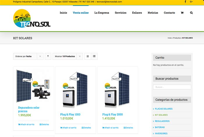 tiendas online Albacete | Tecnosol