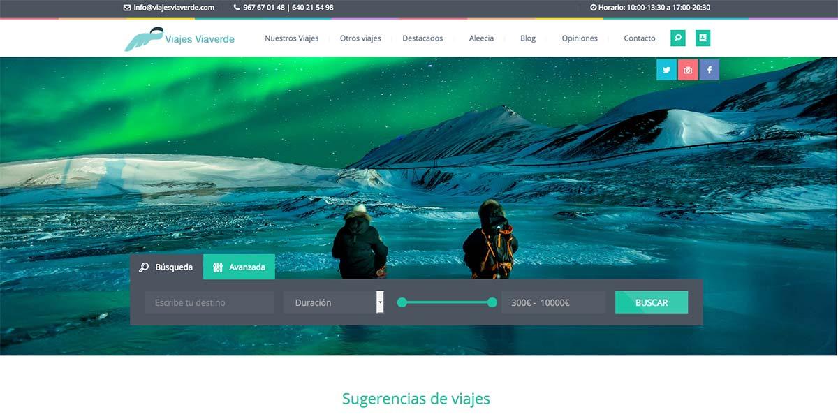 Viajes Viaverde Diseño web