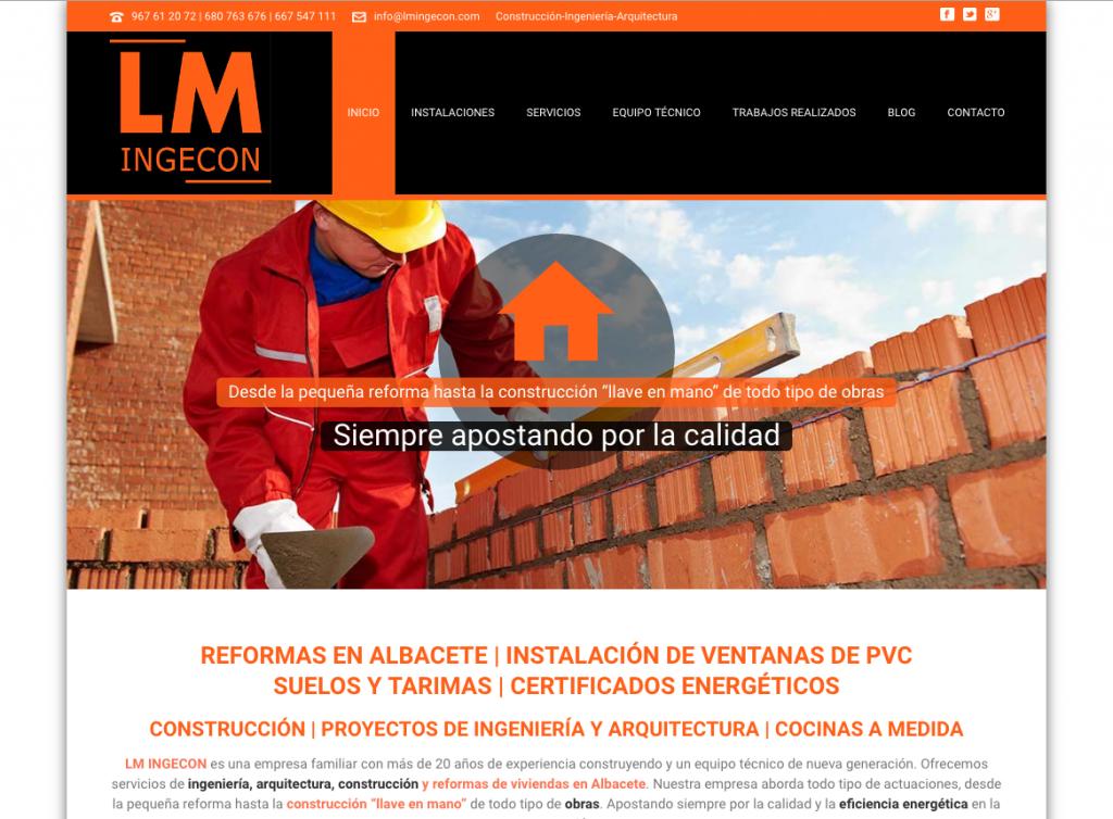 páginas web para empresas de reformas y construcción