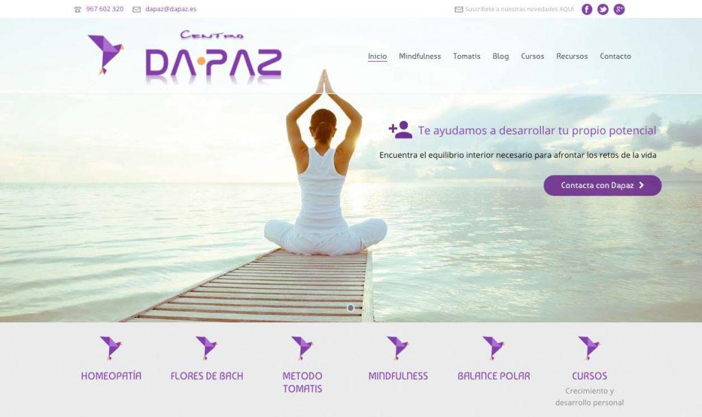 Pagina web centro dapaz
