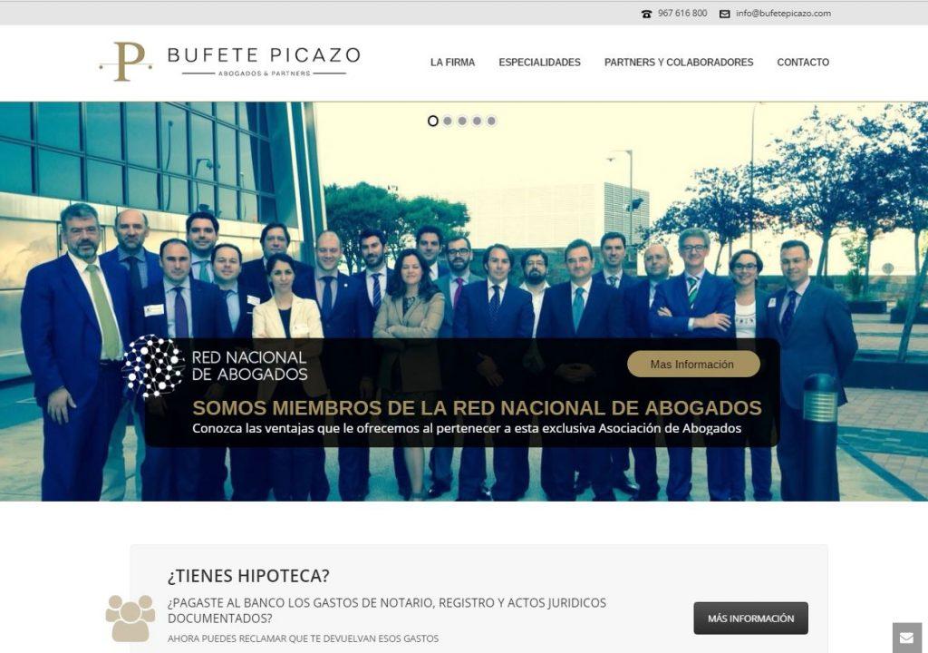 pagina web Bufete Picazo Albacete