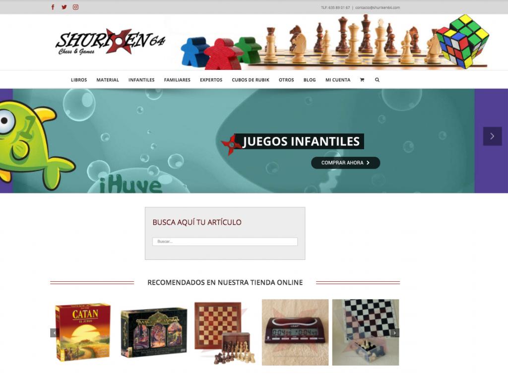 tienda online de ajedrez shuriken64