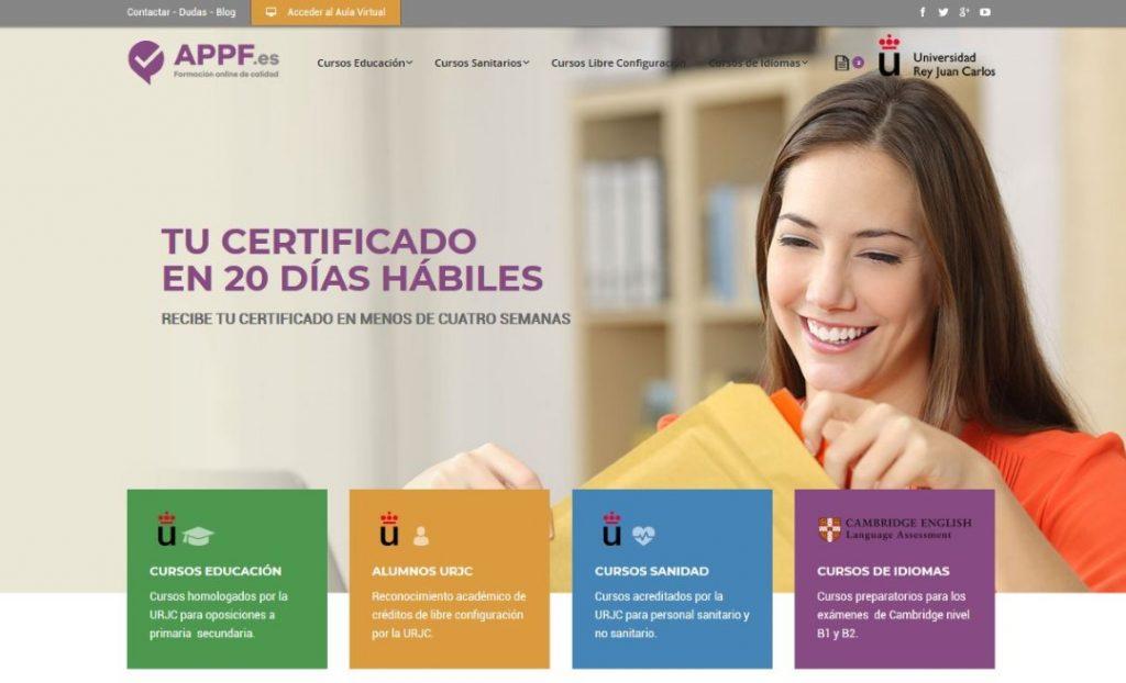 Trabajo de marketing digital para APPF.es