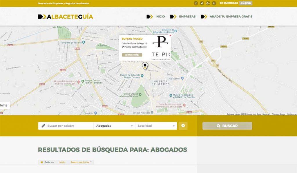 Albaceteguia diseño web