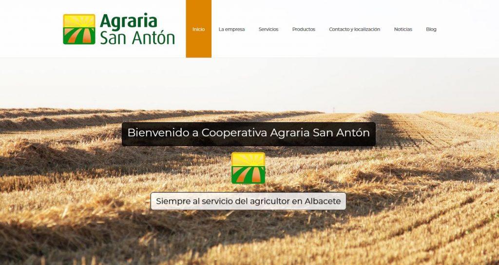 Montaje y posicionamiento SEO de Agraria San Antón