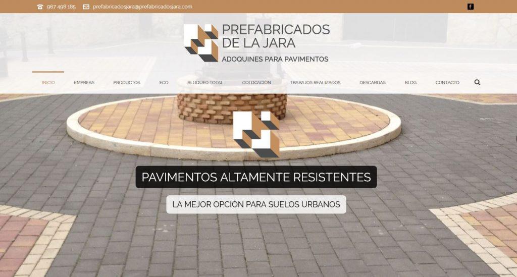 Imagen y web corporativa para empresa de pavimentos