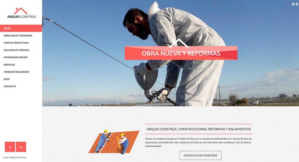 diseño web de empresa de aislamientos en Tarragona