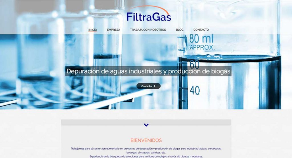 estrategia de marketing y web para filtragas