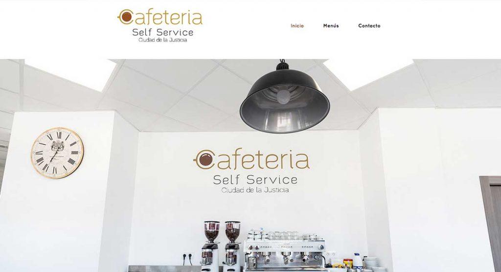 web cafeteria con diseño nuteco