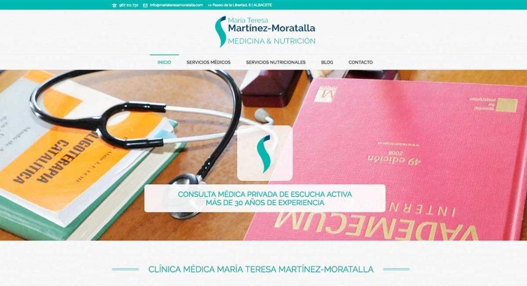web para clinica moratalla medica